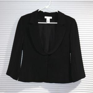 WHBM hidden snap front blazer NWOT